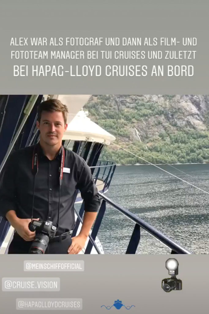 Alex als Film- und Fotomanager im Geirangerfjord