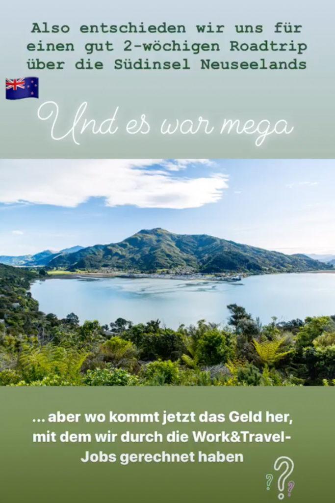Südinsel von Neuseeland
