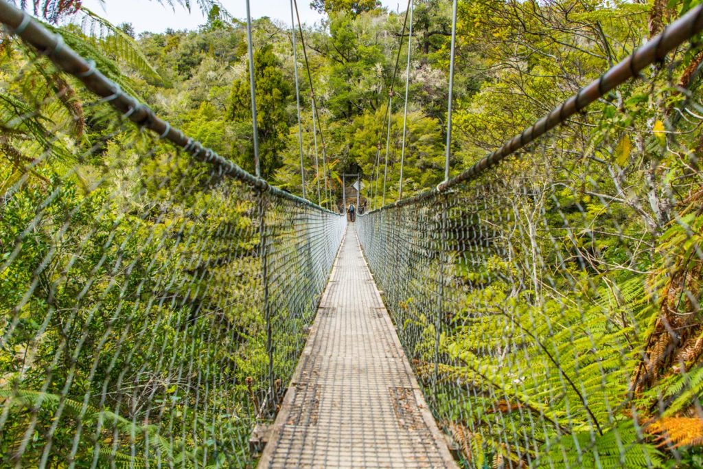 Swing Bridge im Abel Tasman Nationalpark