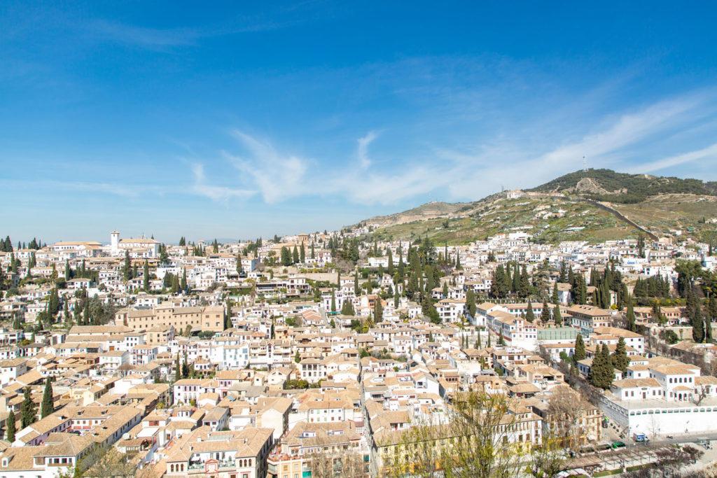 Blick auf Granada, Spanien
