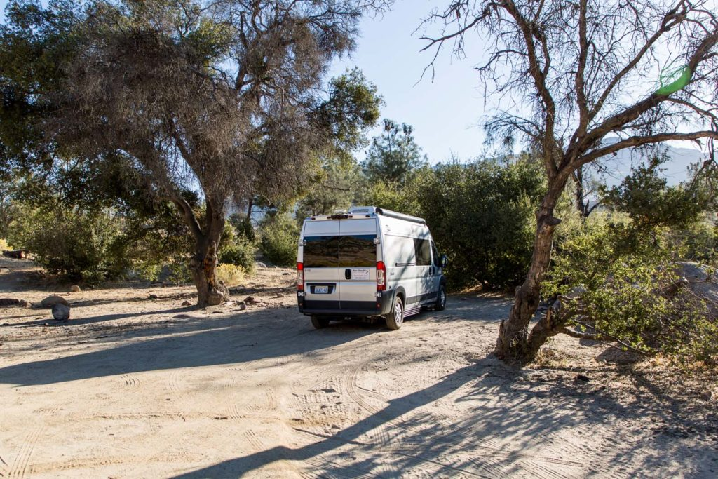 Wildcampen am Lake Isabella in Kalifornien