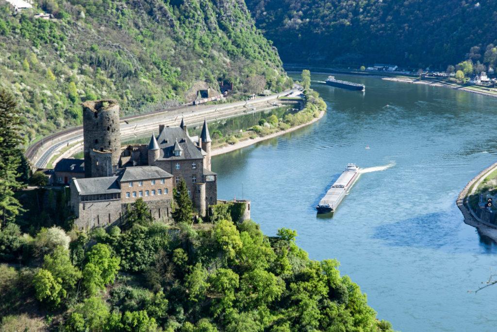 Blick auf den Rhein in Deutschland